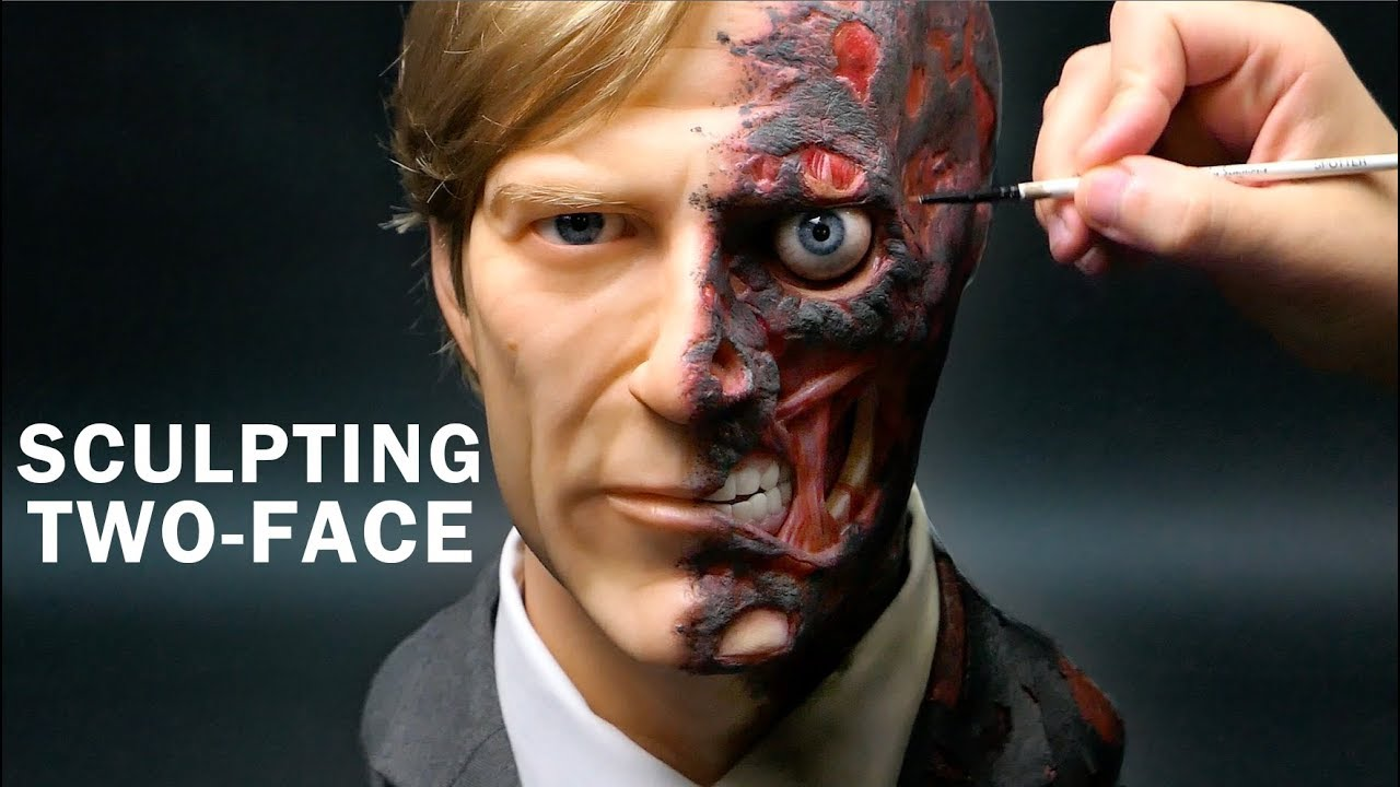 Two- Face Sculpture Timelapse – The Dark Knight Two- Face Sculpture Timelapse – The Dark Knight