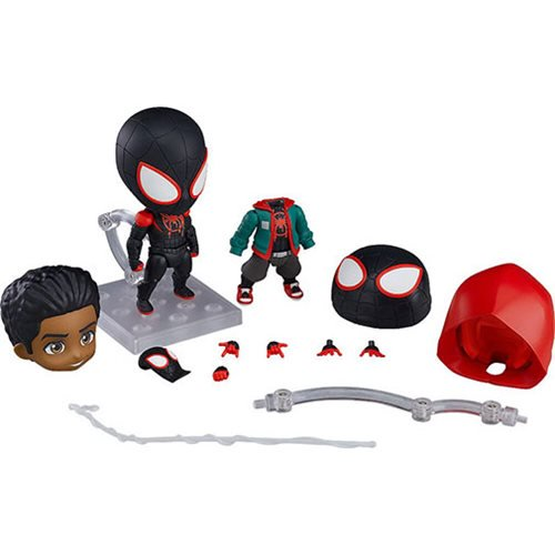 9ea3fd6d820f485bb4cda8727fbbdddclg Spider Man: Into the Spider Verse Miles Morales DX Version Nendoroid Action Figure