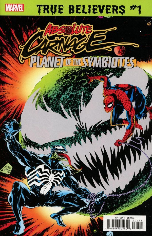 Comic Review for week of July 31, 2019 TRUE BELIEVERS ABSOLUTE CARNAGE – PLANET OF THE SYMBIOTES #1