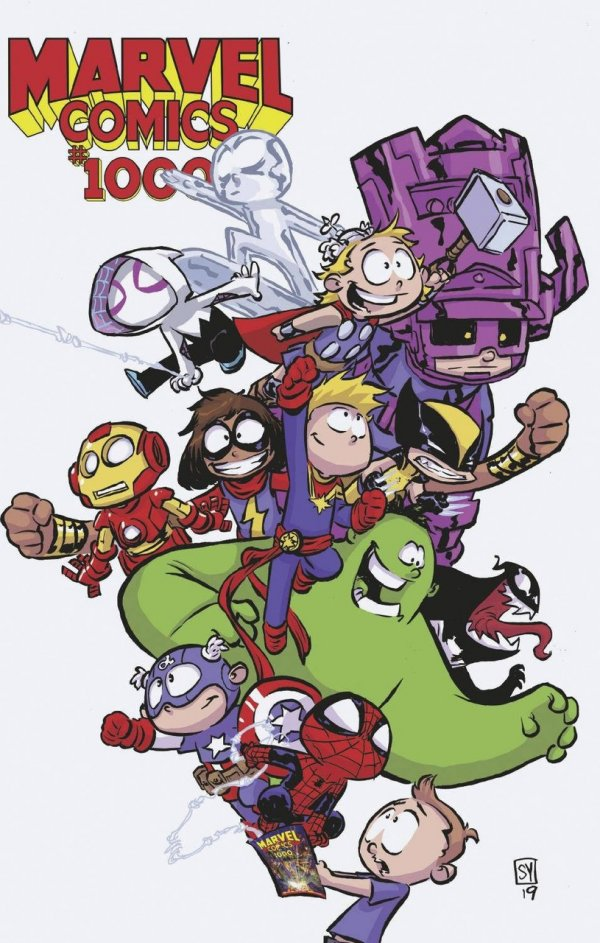 Comic Review for week of August 28th, 2019 MARVEL COMICS #1000 SKOTTIE YOUNG VARIANT