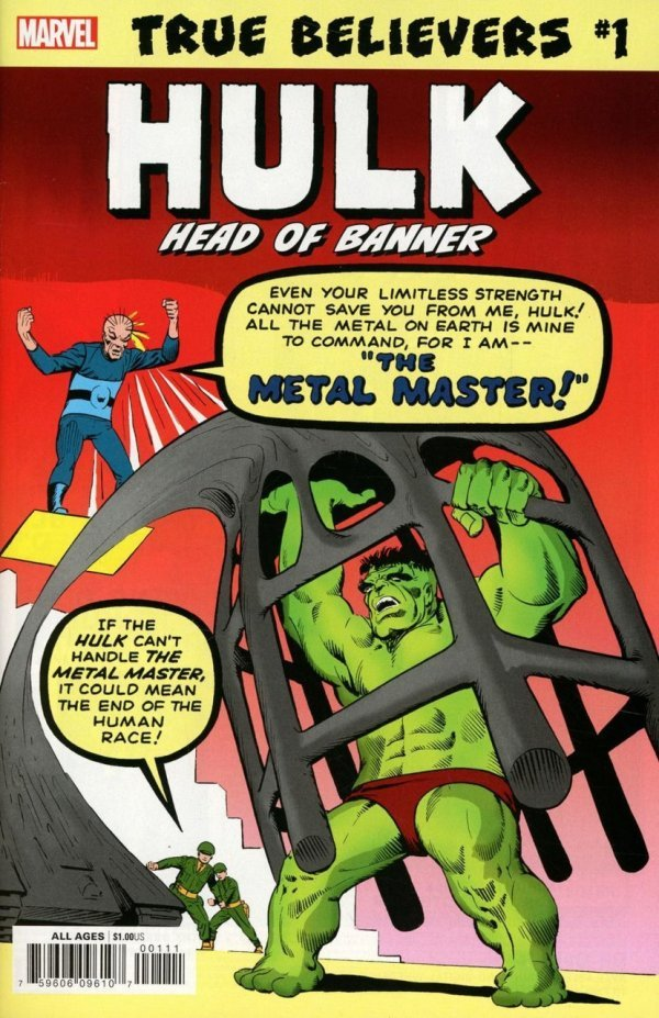 Comic Review for week of September 4th, 2019 TRUE BELIEVERS HULK – HEAD OF BANNER #1