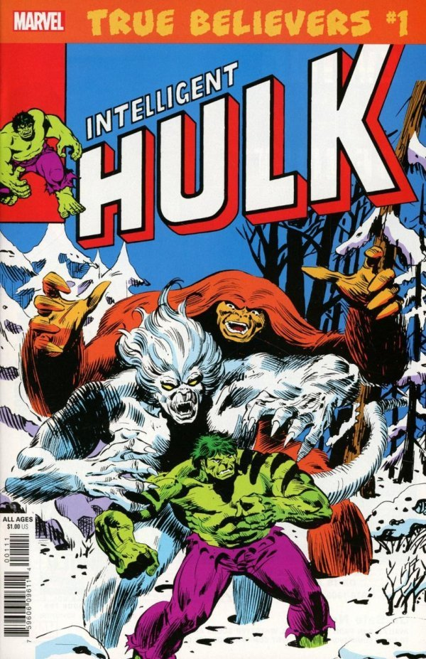 Comic Review for week of September 4th, 2019 TRUE BELIEVERS HULK – INTELLIGENT HULK #1