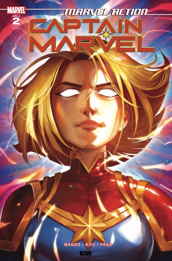 Comic Pulls from September 18, 2019 MARVEL ACTION CAPTAIN MARVEL #2 1 in 10 INCENTIVE VARIANT