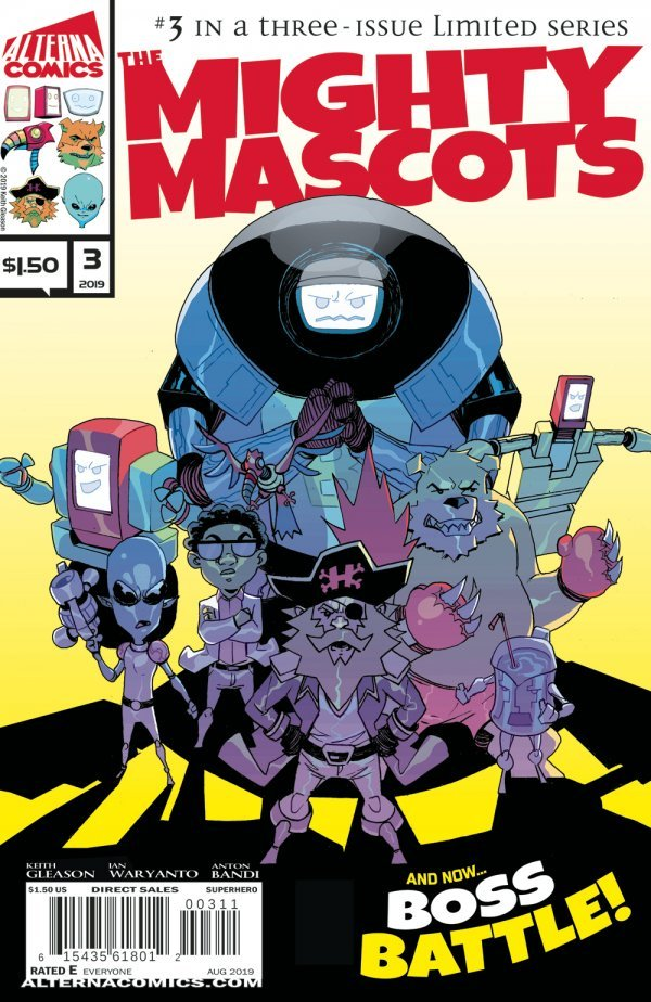 Comic Book Pulls from September 11, 2019 MIGHTY MASCOTS #3