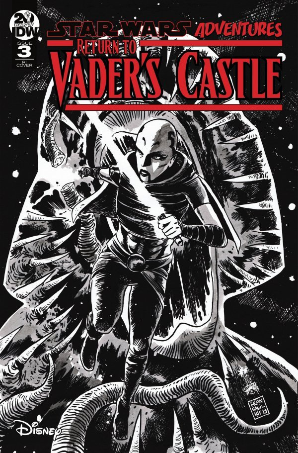Comic Pulls from October 16, 2019 STAR WARS ADVENTURES RETURN TO VADER'S CASTLE #3 110 COVER B&W FRANCAVILLA