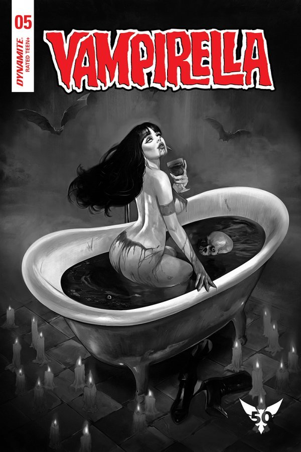 Comic Pulls from November 20, 2019 VAMPIRELLA #5 120 DALTON B&W COVER