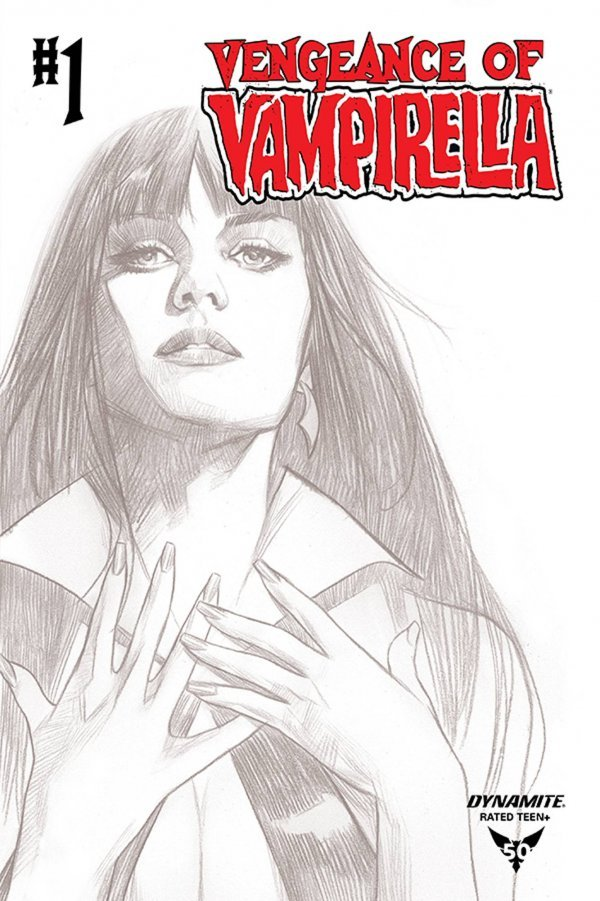 Comic Pulls from October 2, 2019 VENGEANCE OF VAMPIRELLA #1 1 in 20 OLIVER B&W COVER