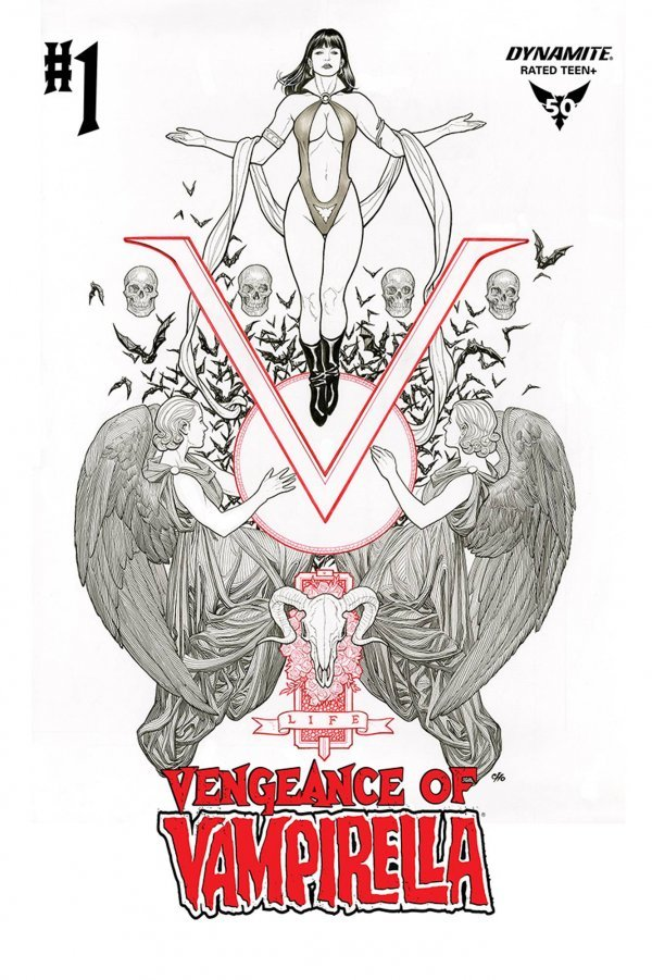 Comic Pulls from October 2, 2019 VENGEANCE OF VAMPIRELLA #1 1 in 50 CHO B&W COVER