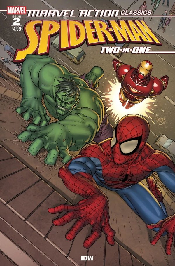 Comic Pulls for week of December 18th, 2019 MARVEL ACTION CLASSICS SPIDER-MAN TWO IN ONE #2 RETAIL COVER