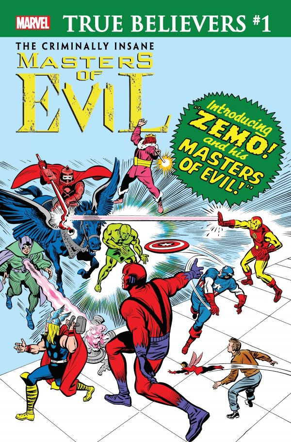 Comic Pulls for week of January 8, 2020 TRUE BELIEVERS THE CRIMINALLY INSANE – MASTERS OF EVIL #1