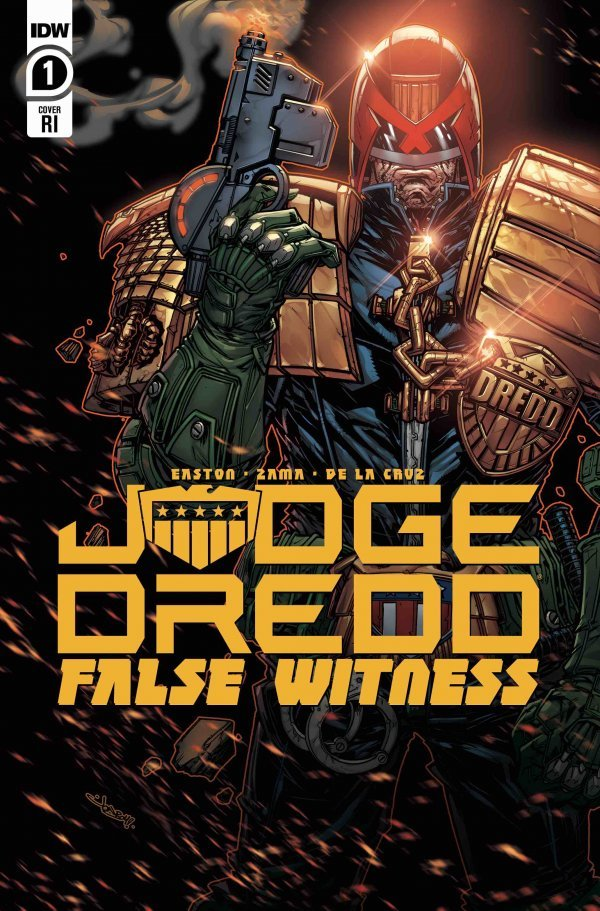 Comic Pulls for weeks of March 18 and 25, 2020 JUDGE DREDD FALSE WITNESS #1 110 INCENTIVE VARAINT