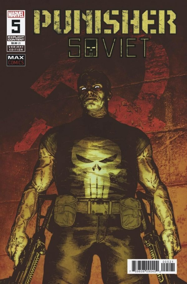 Comic Pulls for week of March 13, 2020 PUNISHER SOVIET #5 125 VARIANT COVER