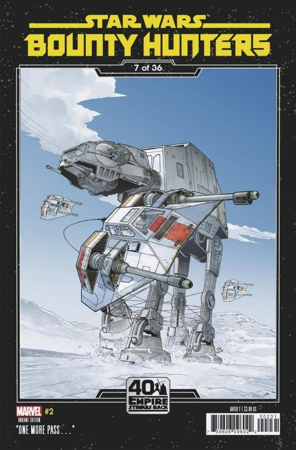 Comic Pulls for weeks of March 18 and 25, 2020 STAR WARS BOUNTY HUNTERS #2 SPROUSE EMPIRE STRIKES BACK VARIANT