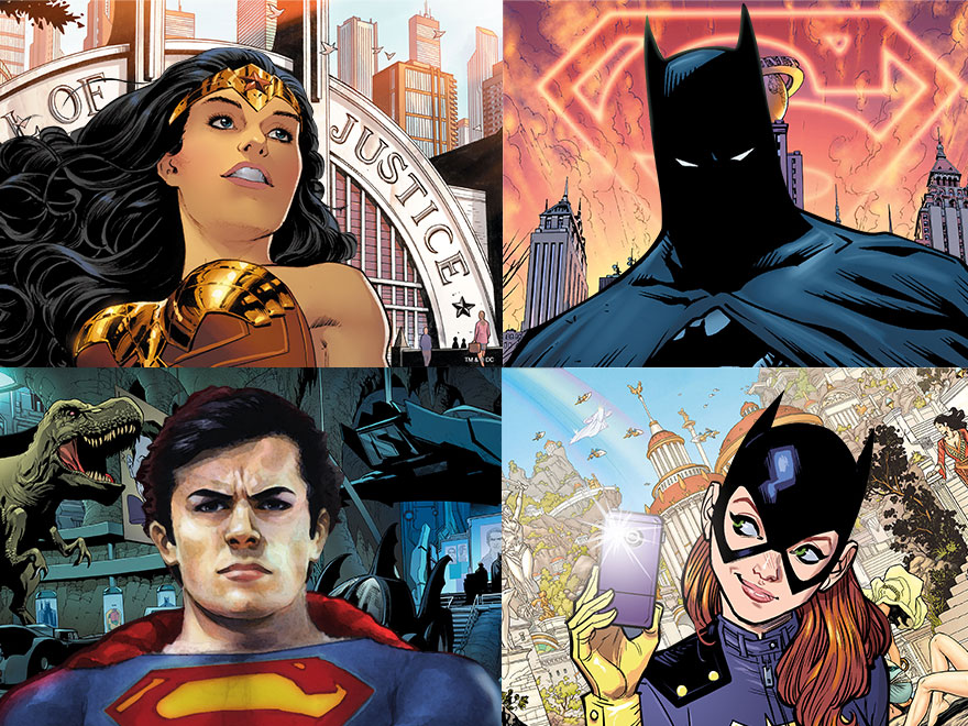 Dial-In From the DC Universe with These Virtual Backgrounds Dial-In From the DC Universe with These Virtual Backgrounds