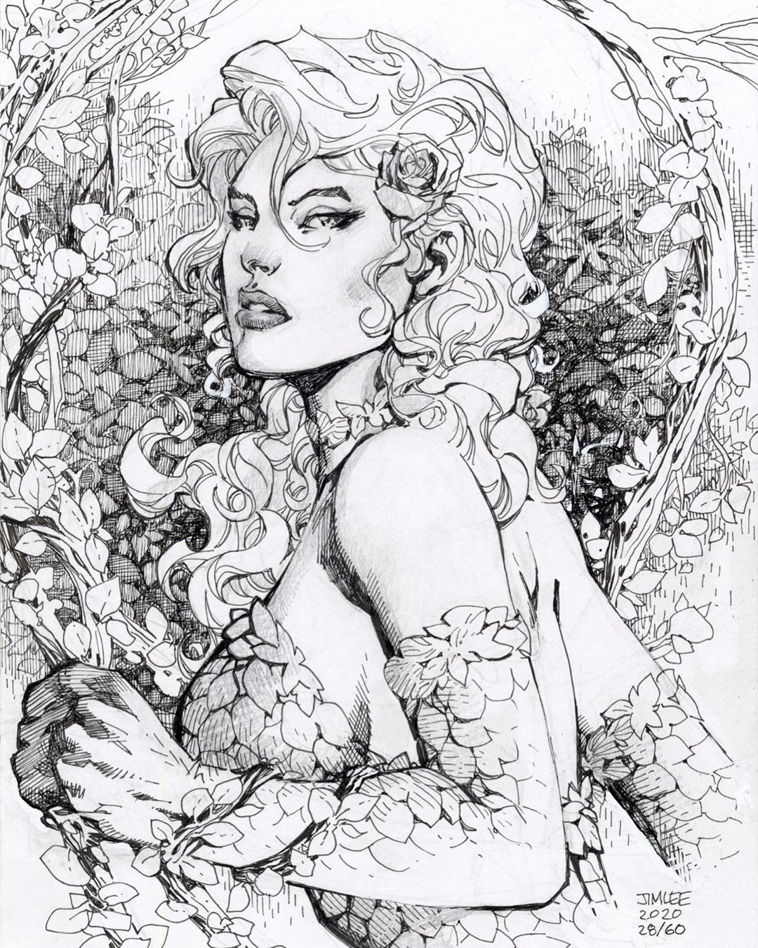 "Jim Lee on Instagram: ""Day 28 (late) brings us POISON IVY (drawn by me) as chosen by the high bidder on Cyborg @waxripper! Pen and ink and whiteout on 9×12""…"" Jim Lee on Instagram: ""Day 28 (late) brings us POISON IVY (drawn by me) as chosen by the high bidder on Cyborg @waxripper! Pen and ink and whiteout on 9×12""…"""