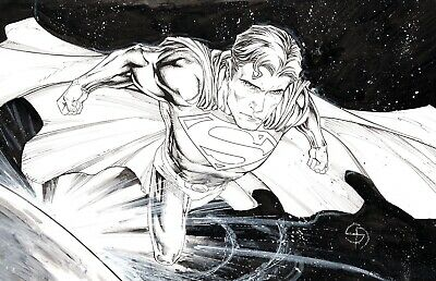 s l400 11 Superman DC Comics Original Art Sketch By SHANE DAVIS  | eBay