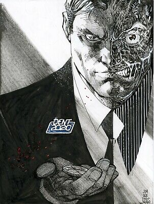 s l400 5 TWO FACE DC Comics Original Art Sketch Jim Lee Batman Harvey Dent  | eBay