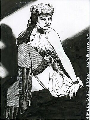 s l400 6 SILK SPECTRE (SALLY JUPITER) Watchmen DC Comics Original Art Sketch By Jim Lee  | eBay