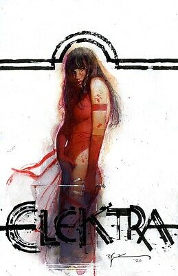 s l400 7 Elektra Marvel Comics Illustration Painting By BILL SIENKIEWICZ  | eBay