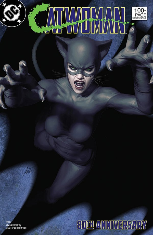 Comic Pulls up to the week of June 5, 2020 CATWOMAN 80TH ANNIVERSARY 100-PAGE SUPER SPECTACULAR #1 1980S VARIANT COVER BY STANLEY ARTGERM LAU