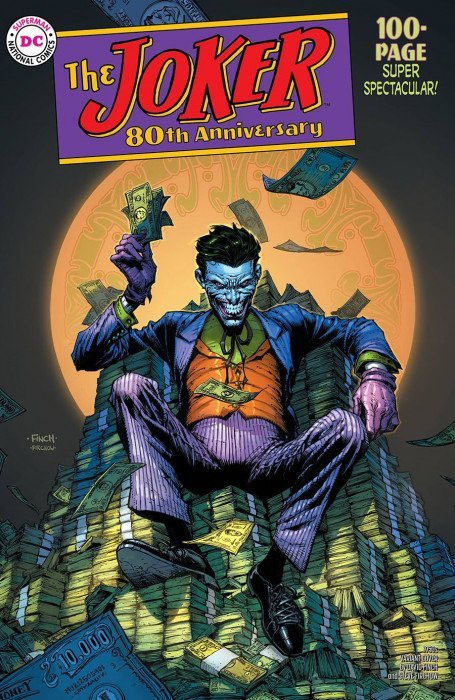 Comic Pulls up to the week of June 10, 2020 THE JOKER 80TH ANNIVERSARY 100-PAGE SUPER SPECTACULAR #1 1950S VARIANT COVER BY DAVID FINCH