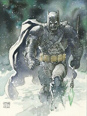s l400 1 ARMORED BATMAN Watercolor Original Art Sketch By Jim Lee Batman V Superman  | eBay