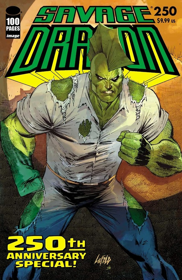 Comic Pulls for the week of July 17, 2020 SAVAGE DRAGON #250 COVER C ROB LIEFELD