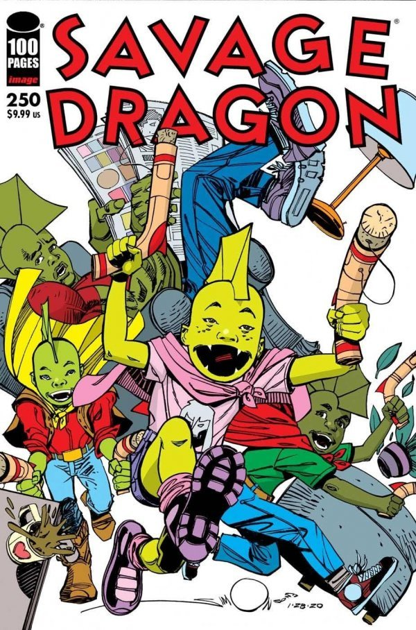 Comic Pulls for the week of July 17, 2020 SAVAGE DRAGON #250 COVER D WALTER SIMONSON