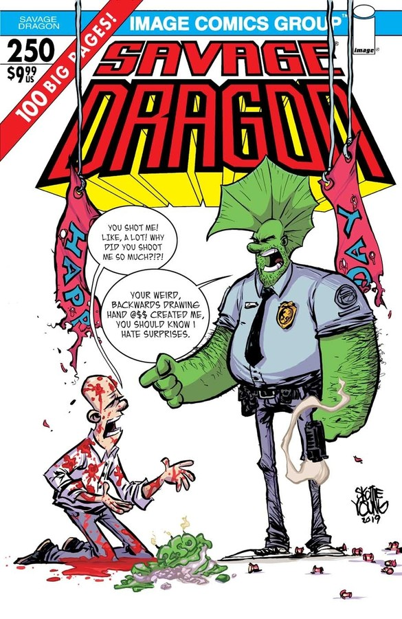 Comic Pulls for the week of July 17, 2020 SAVAGE DRAGON #250 COVER E SKOTTIE YOUNG