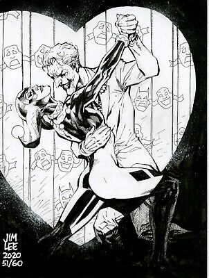s l400 3 HARLEY QUINN and JOKER DC Comics Original Art By Jim Lee Batman  | eBay