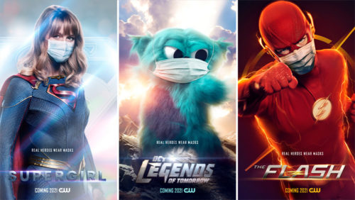 supergirl beebo flash 500x282 The CW Releases New Arrowverse Character Posters For PSA: 'Real Heroes Wear Masks'