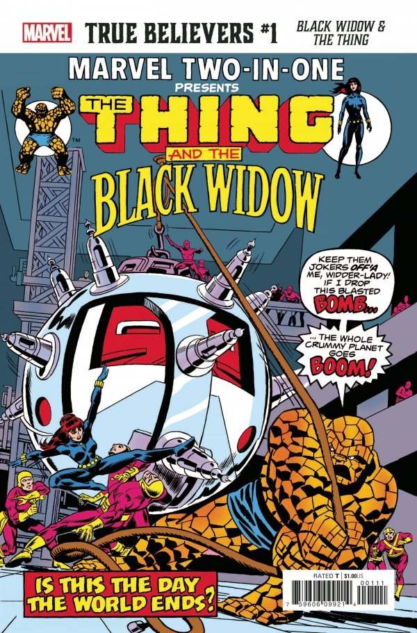 Comic Pulls for the week of October 30, 2020 True Believers Black Widow & The Thing #1