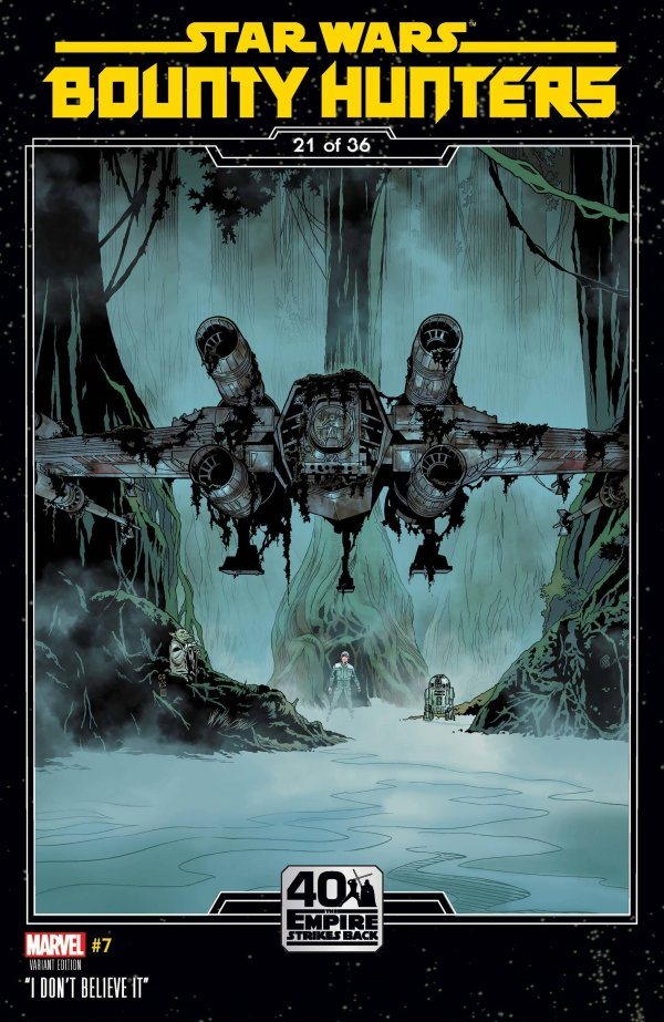 Comic Pulls for the week of November 18, 2020 Star Wars Bounty Hunters #7 Sprouse Empire Strikes Back Variant