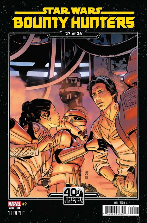 Comic Pulls for the week of February 12, 2021 Star Wars Bounty Hunters #9 Sprouse Empire Strikes Back Variant