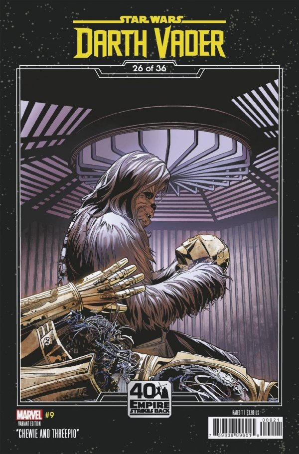 Comic Pulls for the week of February 12, 2021 Star Wars Darth Vader #9 Sprouse Empire Strikes Back Variant
