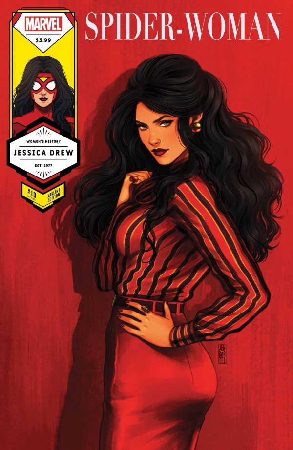 Comic Pulls for the week of March 10, 2021 Spider-Woman #10 Bartel Spider-Woman Women's History Month Variant