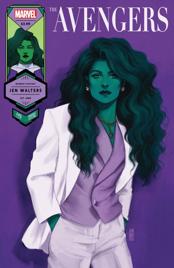 Comic Pulls for the week of March 10, 2021 The Avengers #43 Bartel She-Hulk Women's History Month Variant